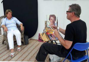 Der Wiener Maler Stefan Nützel porträtiert im Kunstpavillon